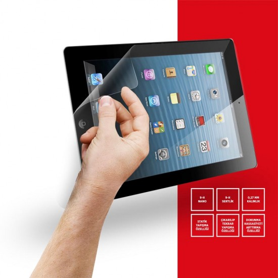 "Goldscreen Apple İpad4 9,7"" 9-H NANO Tablet Ekran Koruyucu"