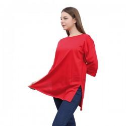 W Story Kadın Düz Penye, Dublekol, Tunik, T-Shirt