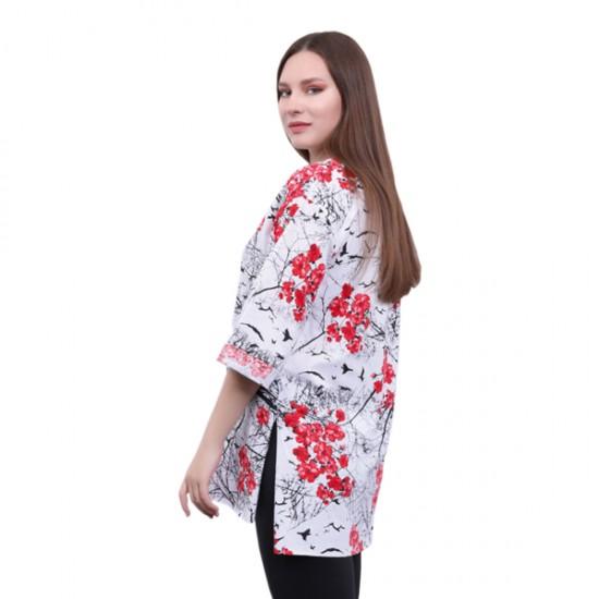 W Story Kadın Tam Baskılı, Dublekol, Tunik - T-shirt
