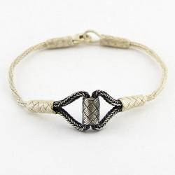 Gümüş Kazaziye Bileklik - Gemici Düğümü
