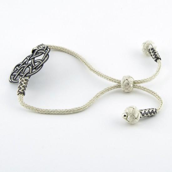 Gümüş Kazaziye Bileklik - Aşk Düğümü