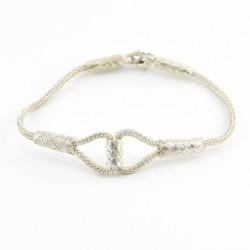 Gümüş Kazaziye Bileklik – Gemici Düğümü