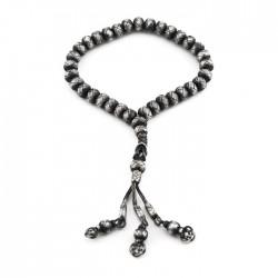 1000 Ayar Gümüş El Örmesi Kazaziye Tesbih - Eskitme